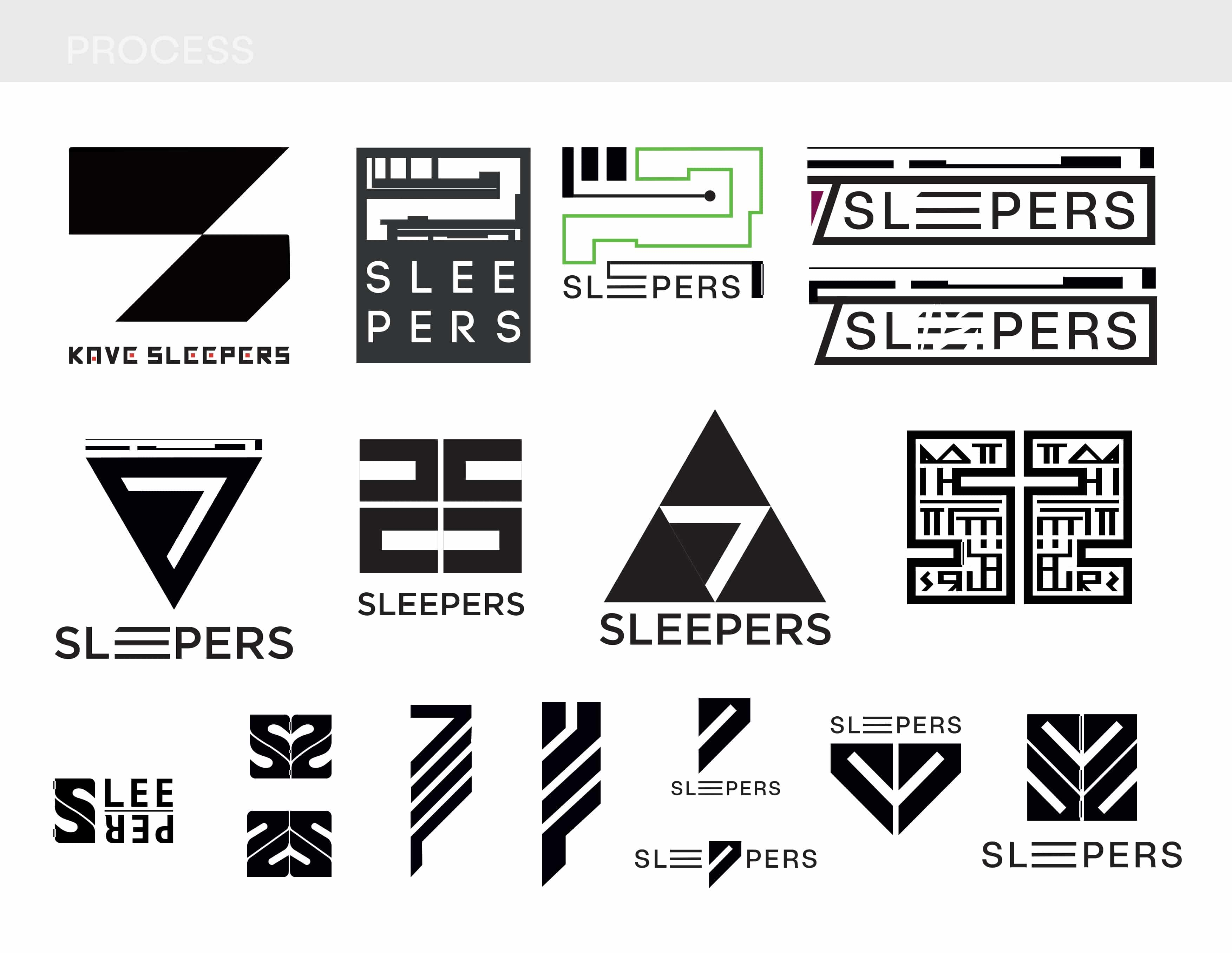 Seven Sleepers Logo Process